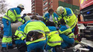 Un muerto y seis heridos leves en un accidente múltiple en Fuenlabrada