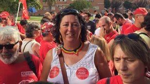 Teresa Fernández González, en una manifestación. (Archivo)