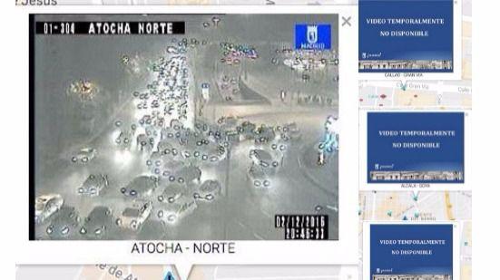 El Ayuntamiento niega un apagón selectivo de las cámaras de Tráfico durante los primeros cortes de Gran Vía