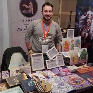 Expocómic combina talentos consagrados a los lápices con nuevas promesas de la ilustración. En la imagen, Jag Character.