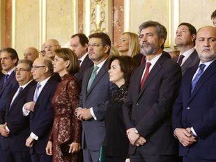 Cristina Cifuentes, entre los invitados al acto institucional de conmemoración del 38º aniversario de la Constitución