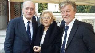 Manuela Carmena con los alcaldes de Zaragoza y Málaga
