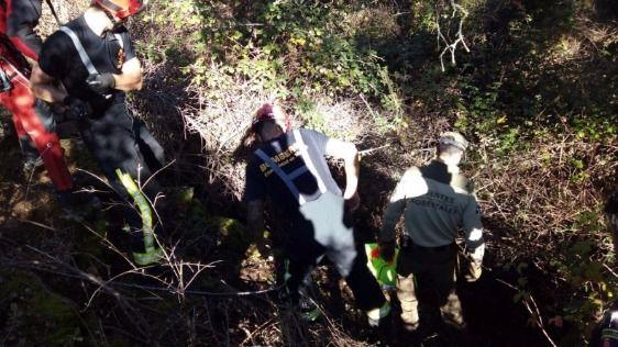 Rescatada en Las Rozas una ciclista que había caído desde una altura de cuatro metros