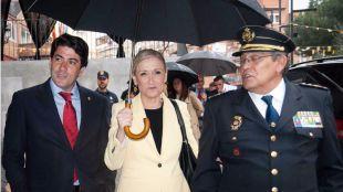 Cristina Cifuentes, presidenta de la Comunidad de Madrid y David Perez, alcalde de Alcorcón