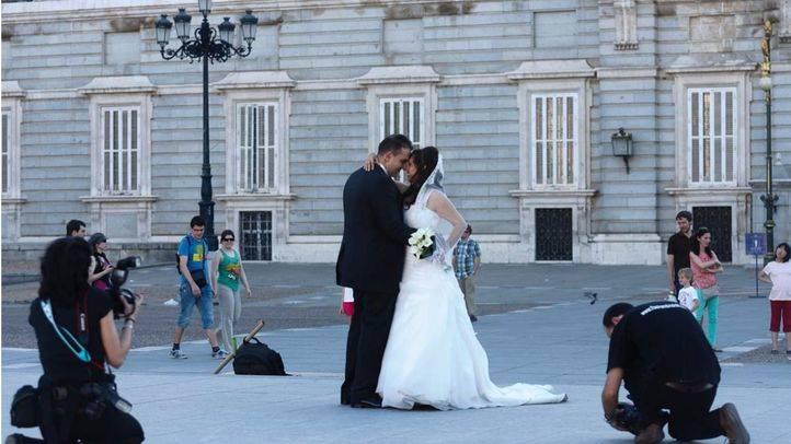 Sesión de fotos de una boda
