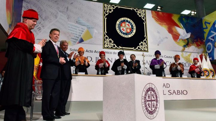 El presidente de Colombia, Juan Manuel Santos, doctor honoris causa por la UAX