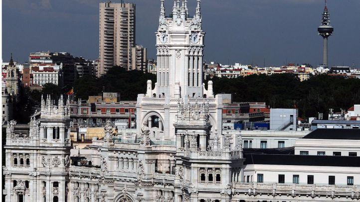 Ayuntamiento de Madrid en Cibeles visto desde el CBA