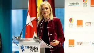 Cristina Cifuentes durante la XII Edición de los Premios PYME
