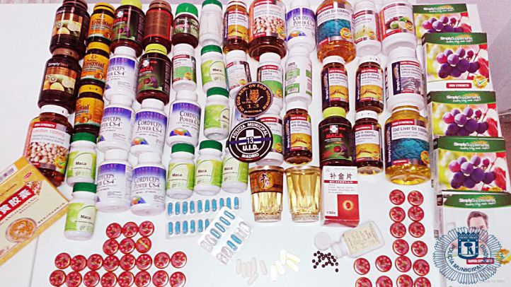 Algunos de los productos retirados