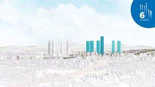 Modelo de ciudad de Distrito Castellana Norte con las nuevas torres. (Archivo)