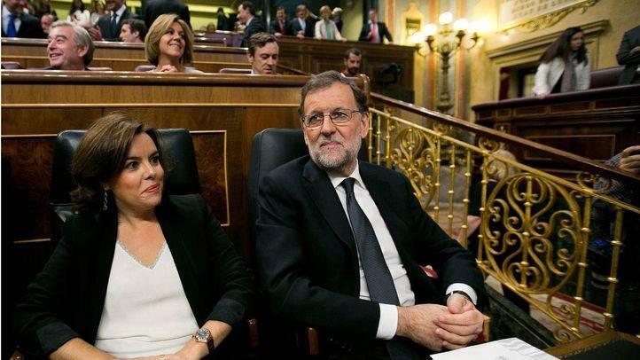 Rajoy y Sáez de Santamaría . (Archivo)