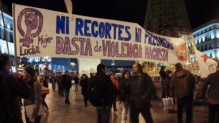 Manifestacion contra la violencia de genero enel Dia mundial Anuario