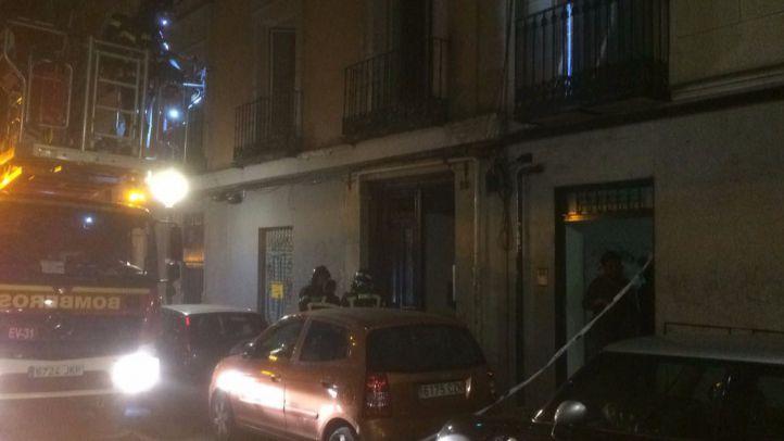 Incendio en la calle del Olmo de Lavapiés