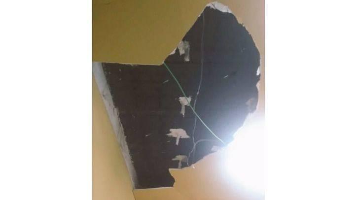 Se derrumba el techo de la Instalación Deportiva Municipal en Aluche