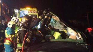 Un accidente de tráfico en la carretera de La Coruña deja un herido grave
