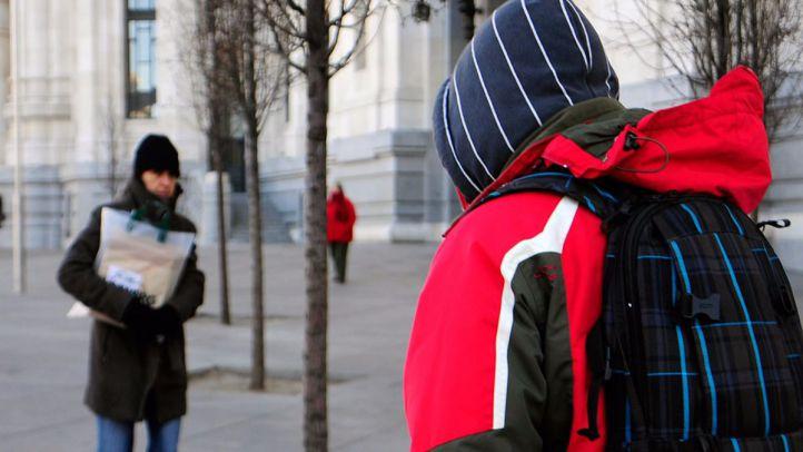 Una ola de frío con temperaturas bajo cero congela Madrid
