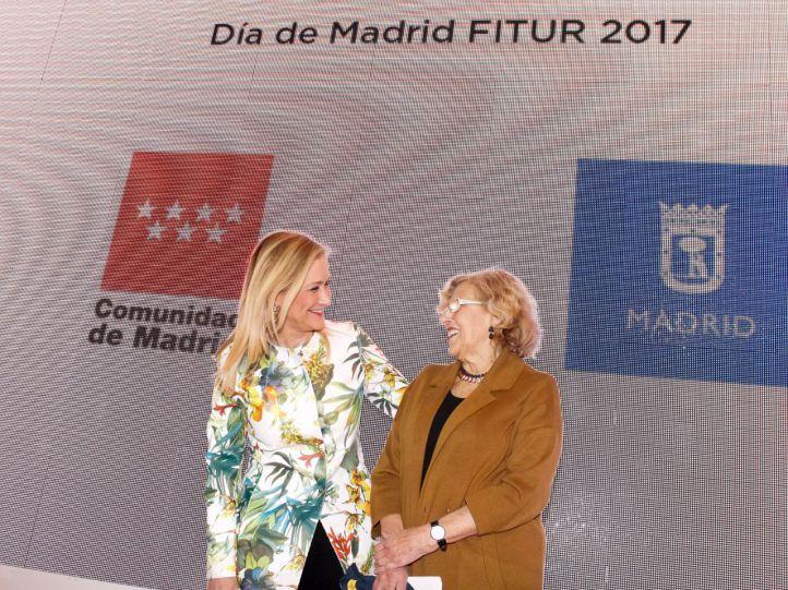 Carmena y Cifuentes abren al mundo las puertas de Madrid en Fitur