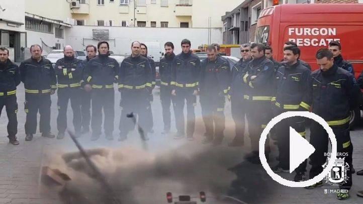 Minuto de silencio de los bomberos