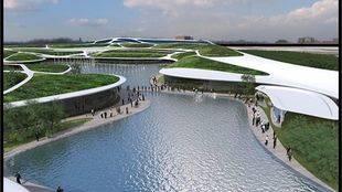 Simulación del futuro centro comercial de Torrejón de Ardoz, junto a Barajas