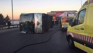 La madre del conductor de autobús que volcó en Fuenlabrada: