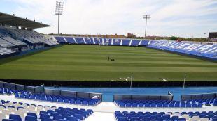El equipo entrena ahora en un anexo al estadio de Butarque