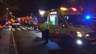 Un chico de 17 años, grave tras sufrir un accidente de moto en Hortaleza