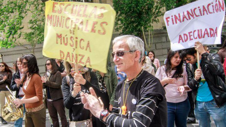 Protesta de los trabajadores de las escuelas de música