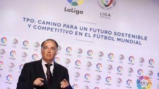 Tebas cree que el objetivo de Telemadrid era conseguir fútbol en abierto para los ciudadanos y no ganar dinero con ello