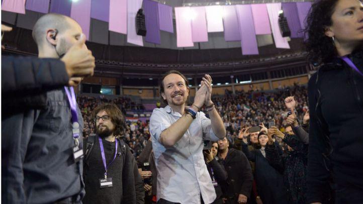 Pablo Iglesias, ovacionado a su llegada a Vistalegre