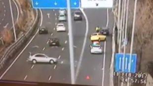 Un guardia civil salva la vida en el último segundo en la carretera de Colmenar