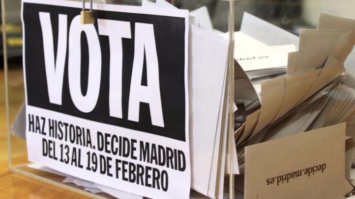Arrancan este lunes las primeras votaciones ciudadanas de Madrid