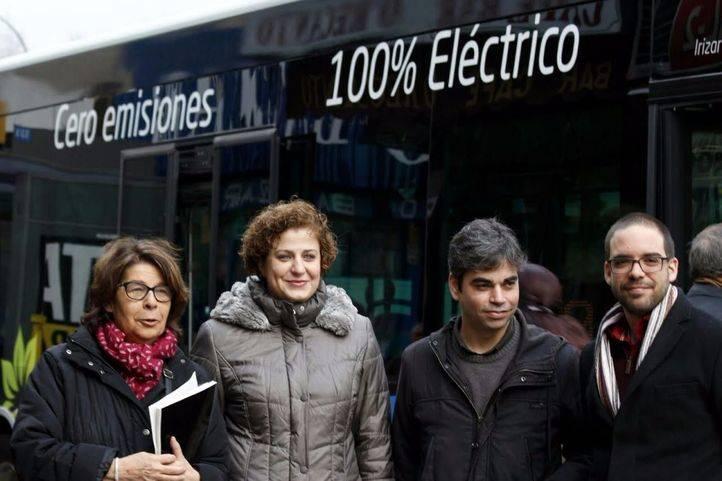 Presentación del autobús ecológico con tecnología cien por cien eléctrica