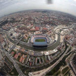 Estadio Vicente Calderón, desde el aire.