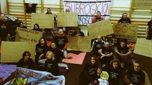 Encierro de 48 horas de los trabajadores del Club Natación Moscardó