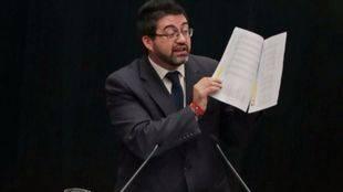 Sánchez Mato, en el Pleno del Ayuntamiento de Madrid