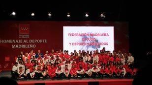 La Comunidad de Madrid rinde homenaje a más de un millar de deportistas madrileños