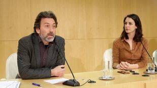 Maestre y Valiente durante la rueda de prensa posterior a la Junta de Gobierno.