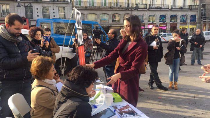 La concejala Rita Maestre ha participado este sábado en la consulta ciudadana