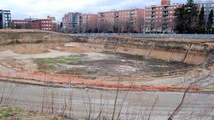 crater del antiguo estadio Vallehermoso