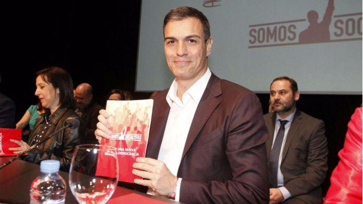 Pedro Sánchez, en la presentación de su documento para volver a liderar el PSOE.