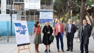 La Alcaldesa de Madrid durante la presentación del Plan Municipal de Vivienda