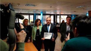Luis Asúa ha presentado en Génova los avales para su candidatura a presidir el PP madrileño