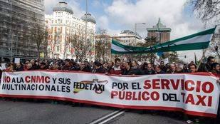 Pancarta principal de la manifestación.