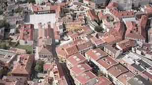 El centro de Pinto desde el aire