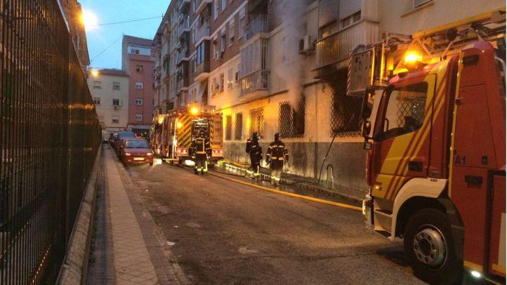 Incendio ocurrido en Latina.