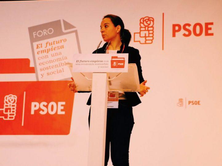 Sara Hernández, en la ponencia económica celebrada en Madrid