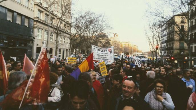 La manifestación, en la calle Atocha