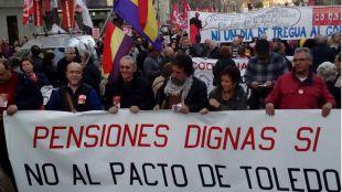 Las Marchas de la Dignidad exigen la recuperación de las pensiones y los salarios