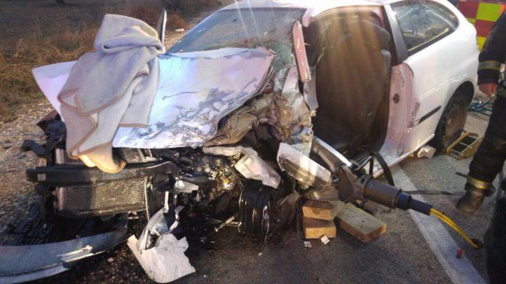 Un accidente múltiple en Campo Real deja una mujer de 27 años muerta y tres heridos
