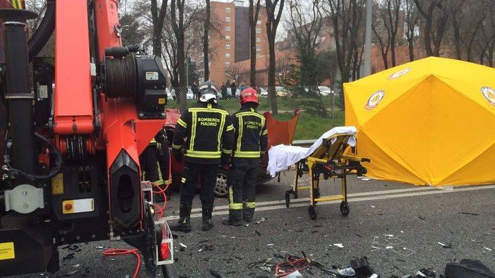 Un muerto y seis heridos en una colisión entre dos coches en la A-3